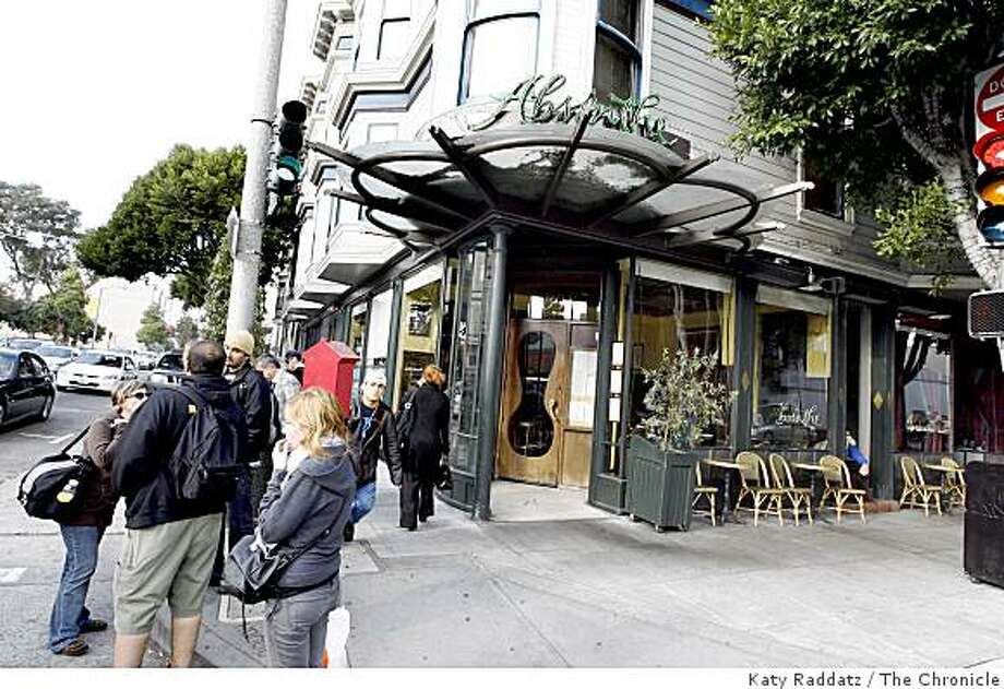 Absinthe, at 395 Hayes St. in San Francisco, Calif. on Tuesday March 11, 2008.Photo by Katy Raddatz / The San Francisco Chronicle Photo: Katy Raddatz, The Chronicle