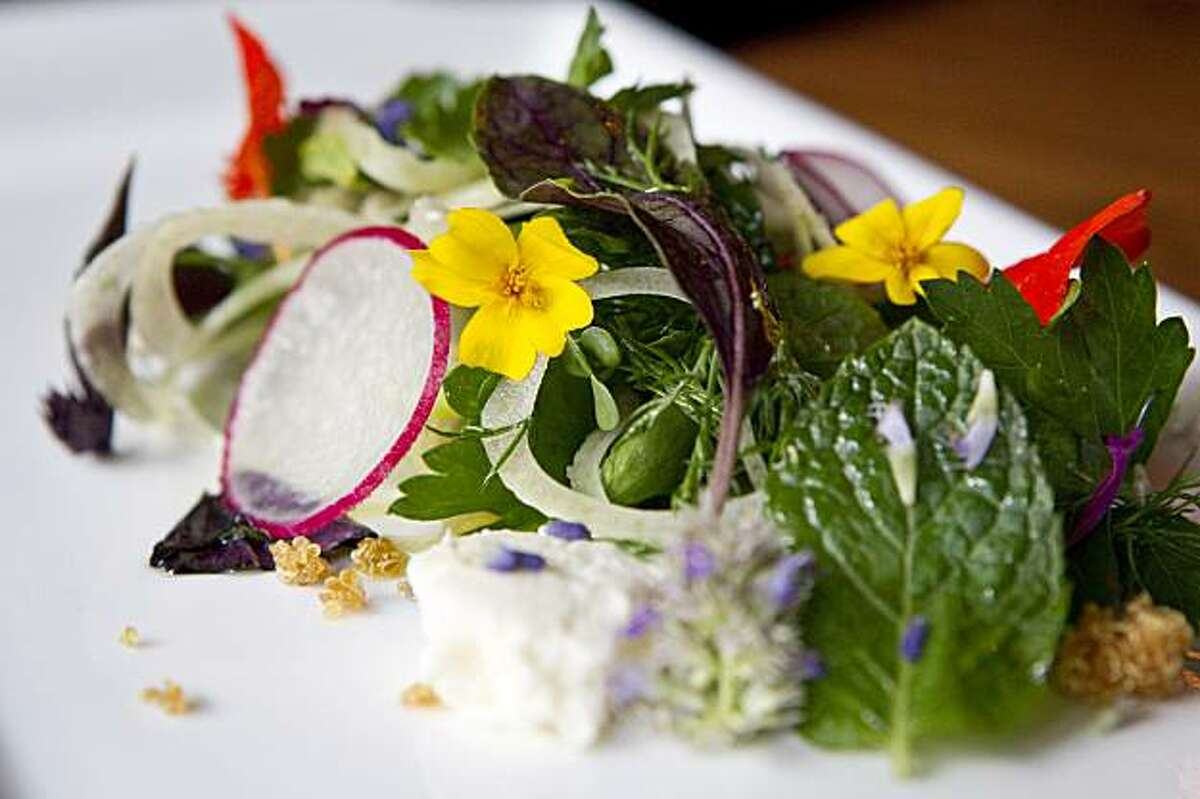 The herb salad is seen at Sons & Daughters in San Francisco, Calif. on Thursday, September 16, 2010.