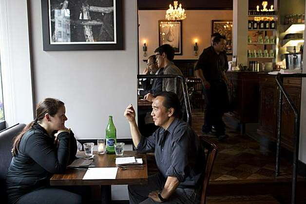 Stephanie Peterson and Eddie Tang dine at Sons & Daughters in San Francisco, Calif. on Thursday, September 16, 2010. Photo: Laura Morton, Special To The Chronicle