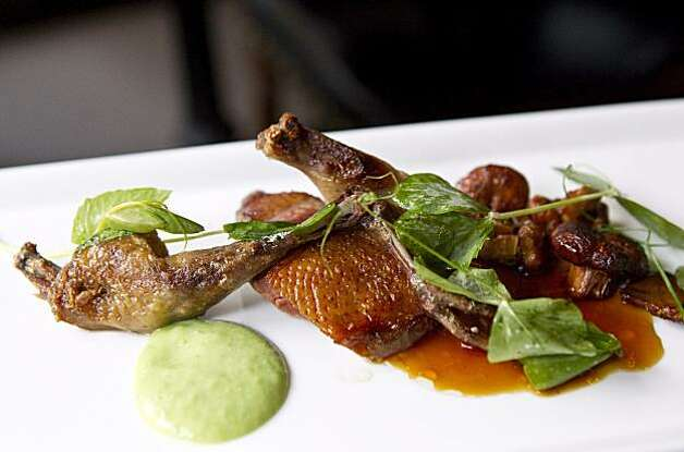 The squab breast is seen  at Sons & Daughters in San Francisco, Calif. on Thursday, September 16, 2010. Photo: Laura Morton, Special To The Chronicle