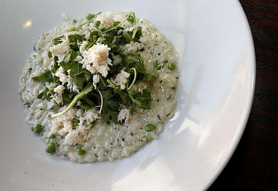 The Dungeness crab risotto is a favorite at Cantinetta Piero. Cantinetta Piero is located on a quiet tree lined street in downtown Yountville, Calif. Photo: Brant Ward, The Chronicle