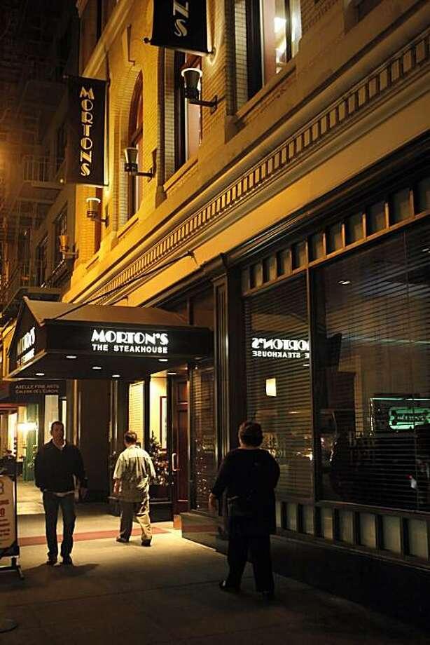 Barbites feature on the bar at Morton's Steakhouse near Union Square. Photo: Carlos Avila Gonzalez, The Chronicle
