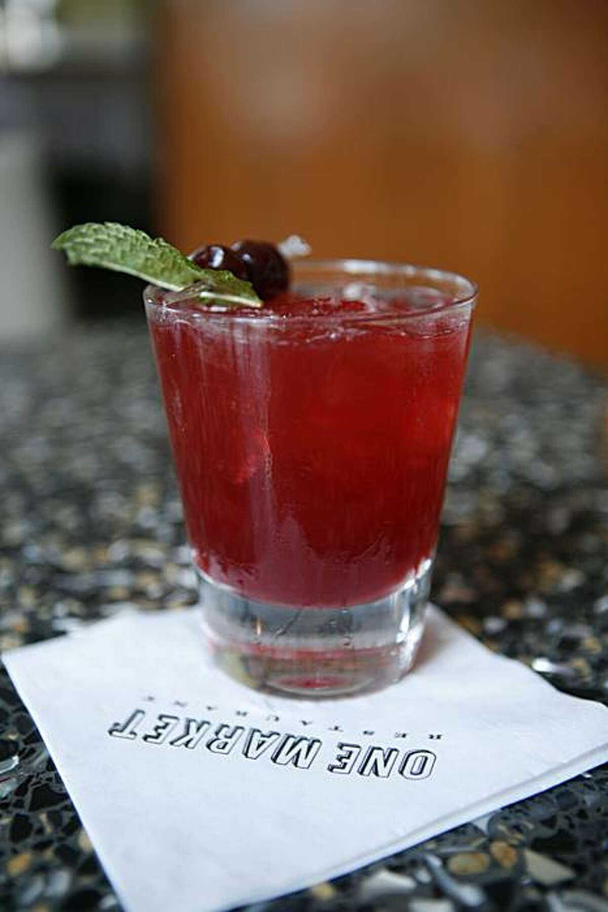 The Last Embrace drink is seen at the One Market bar and restaurant in San Francisco, Calif. on Thursday August 19, 2010.