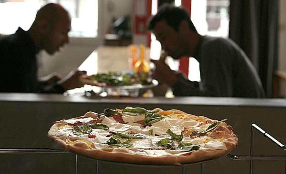 The Margarita pizza at Delarosa restaurant in San Francisco on Friday, August 13th, 2010.
