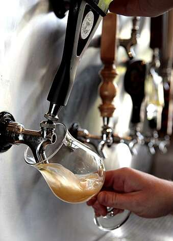 A beer being poured at the Delarosa restaurant in San Francisco on Friday,  August 13th, 2010. Photo: John Storey, SPECIAL TO THE CHRONICLE