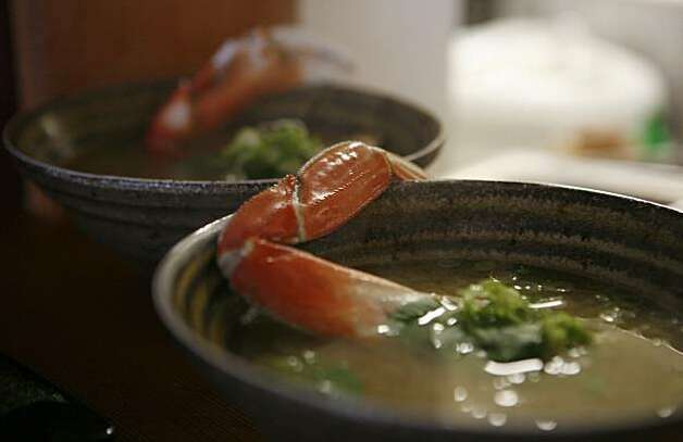 Dungeres crab miso soup is seen in Izakaya Sozai in San Francisco, Calif. on Thursday August 12, 2010. Photo: Jasna Hodzic, The Chronicle