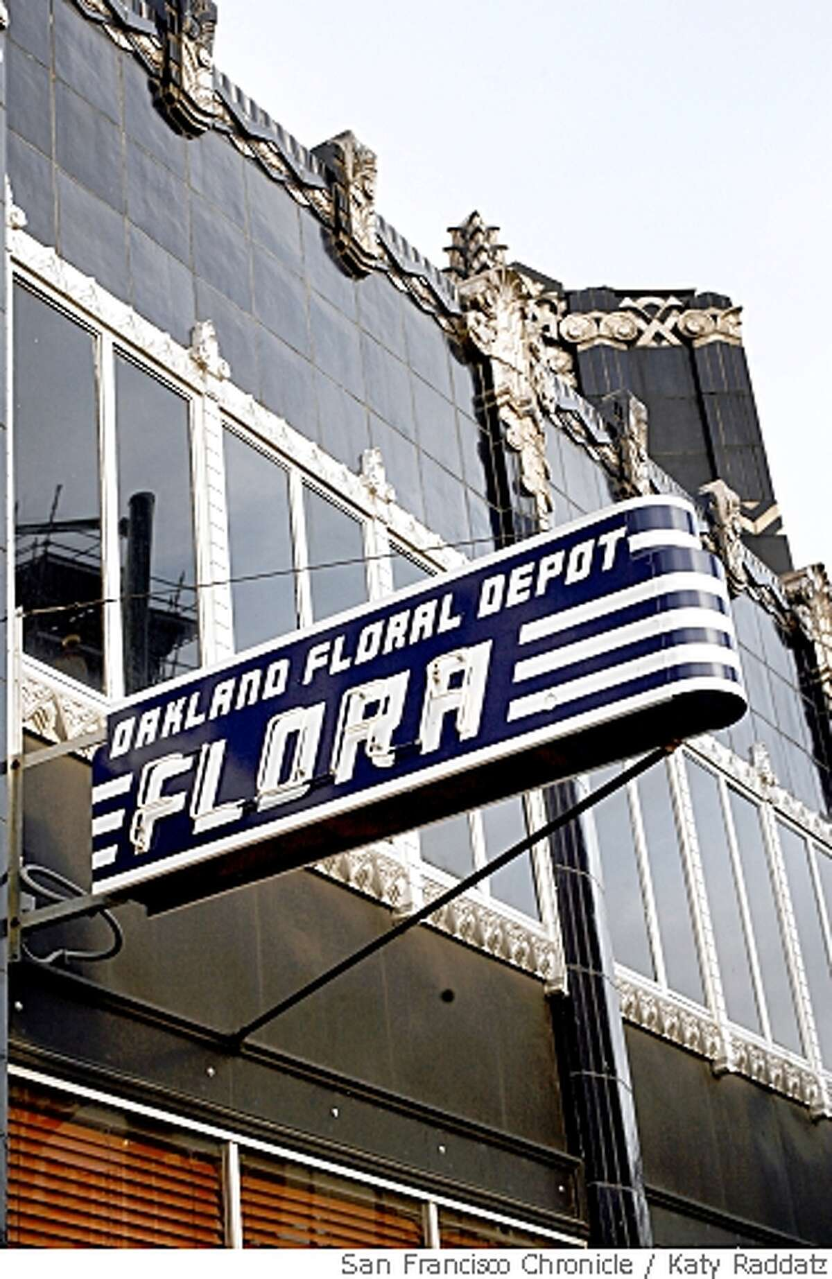 The exterior, showing the beautiful Art Deco building, at Flora, in Oakland, Calif. on Wednesday May 14, 2008.