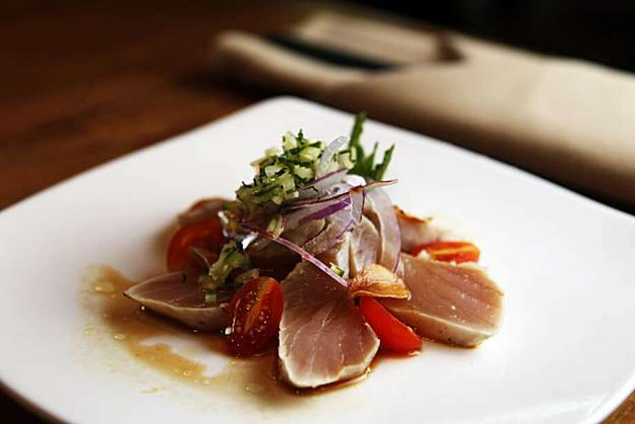 Sasa restaurant in downtown Walnut Creek offers a wide verity on both the lunch and dinners menu including the Seared Albacore Tuna Wednesday July 7, 2010. Photo: Lance Iversen, The Chronicle