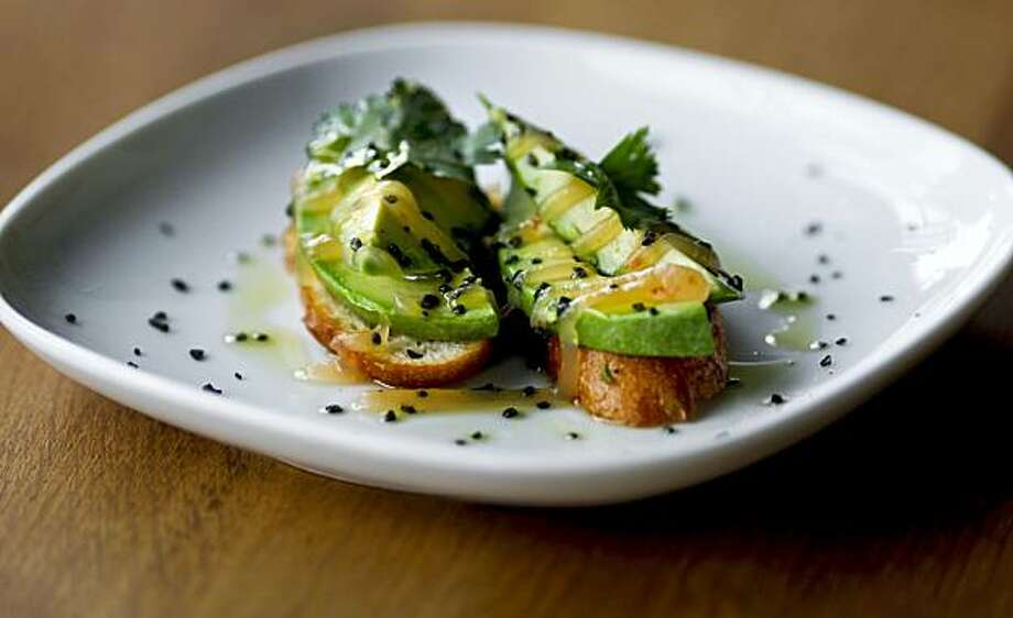 Avocado Bruschetta at Encuentro restaurant near Jack London Square in Oakland, Ca. on Tuesday June 22, 2010. Photo: Michael Macor, The Chronicle