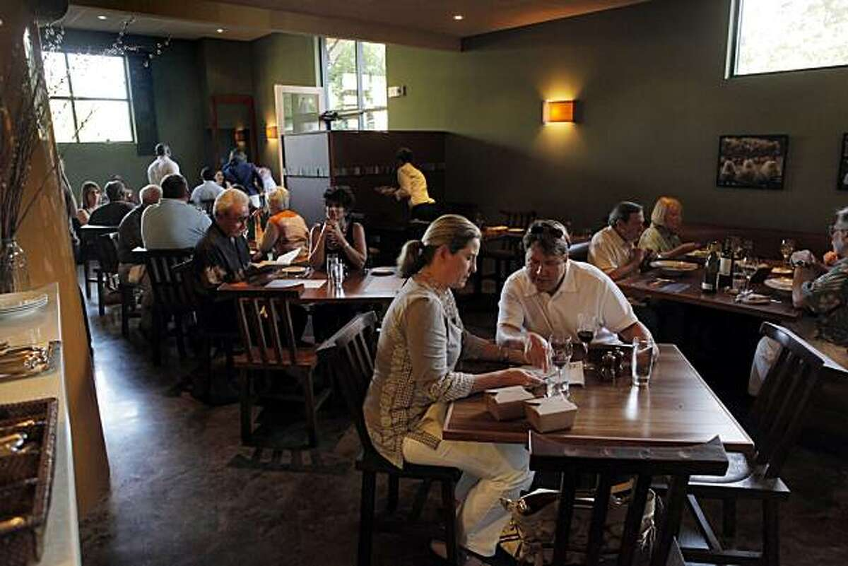 The dining area at Santi restaurant in Santa Rosa, Calif. The restaurant is shown here on Thursday, June 10, 2010.