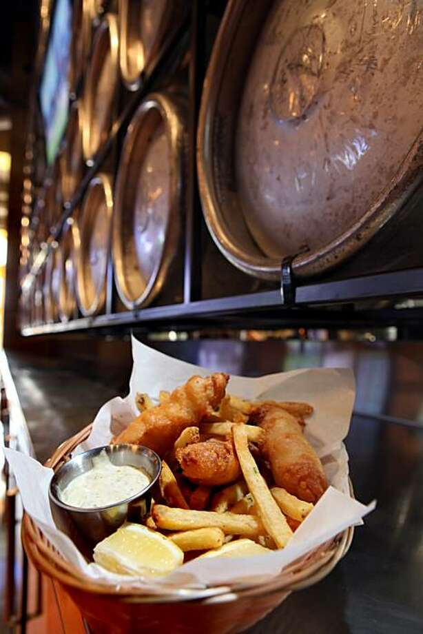 The fish and chips served at Public House in San Francisco, Calif., on Wednesday, May 12, 2010. Public House and Mijita are two restaurants by Tracy Des Jardins carved out of what was once Acme Chophouse. Photo: Carlos Avila Gonzalez, The Chronicle