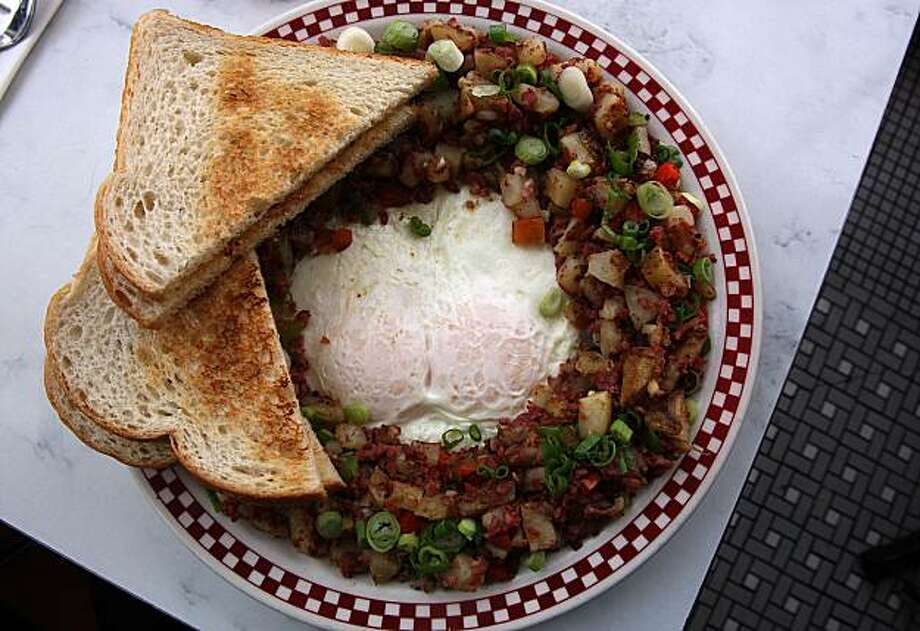 Corned beef hash and eggs at St. Francis Fountain restaurant in San Francisco, Calif., on Wednesday, May 12, 2010. Photo: Liz Hafalia, The Chronicle
