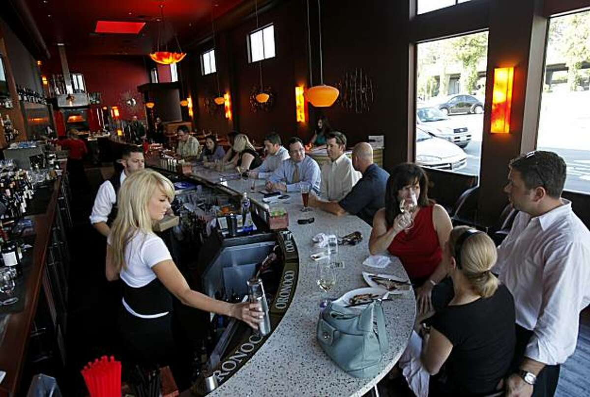 The bar area is a big attraction at Jackson's Bar and Oven. Jackson's Bar and Oven is enjoying great success in downtown Santa Rosa, Calif.