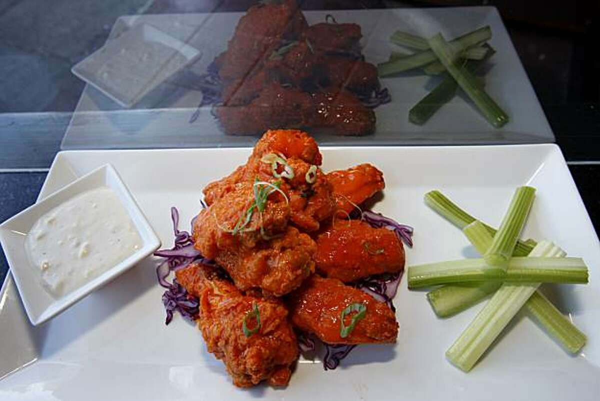 The Neoclassic Buffalo Wings feature a Point Reyes Blue Cheese dip. Jackson's Bar and Oven is enjoying great success in downtown Santa Rosa, Calif.