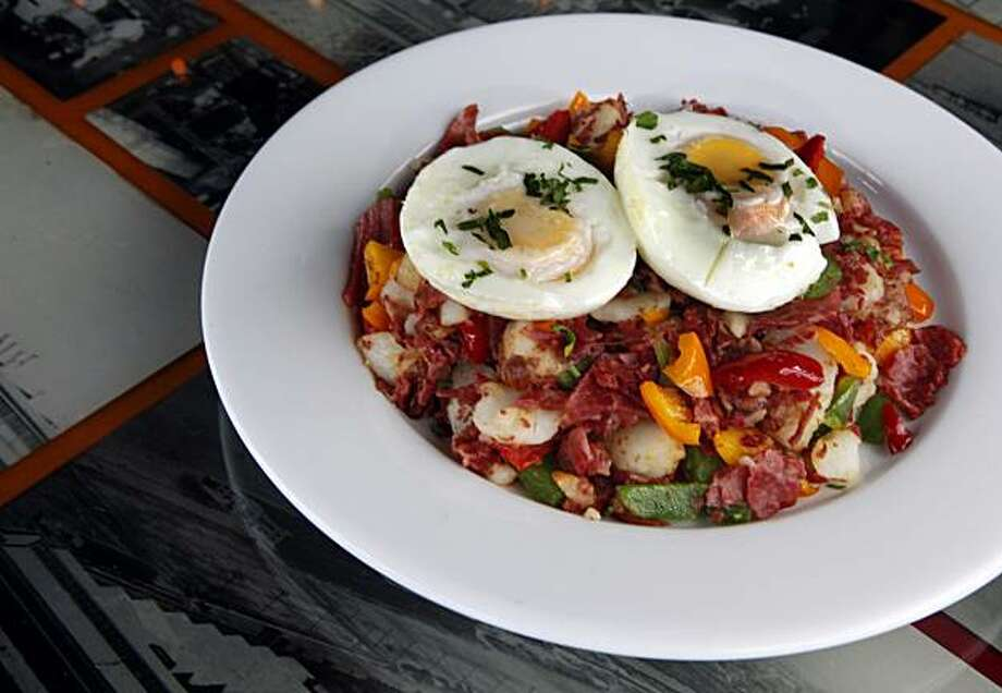 The Boilerhouse, 1414 Harbour Way South (Marina District), Richmond Ca offers corned beef hash. Wednesday April 14, 2010. Photo: Lance Iversen, The Chronicle