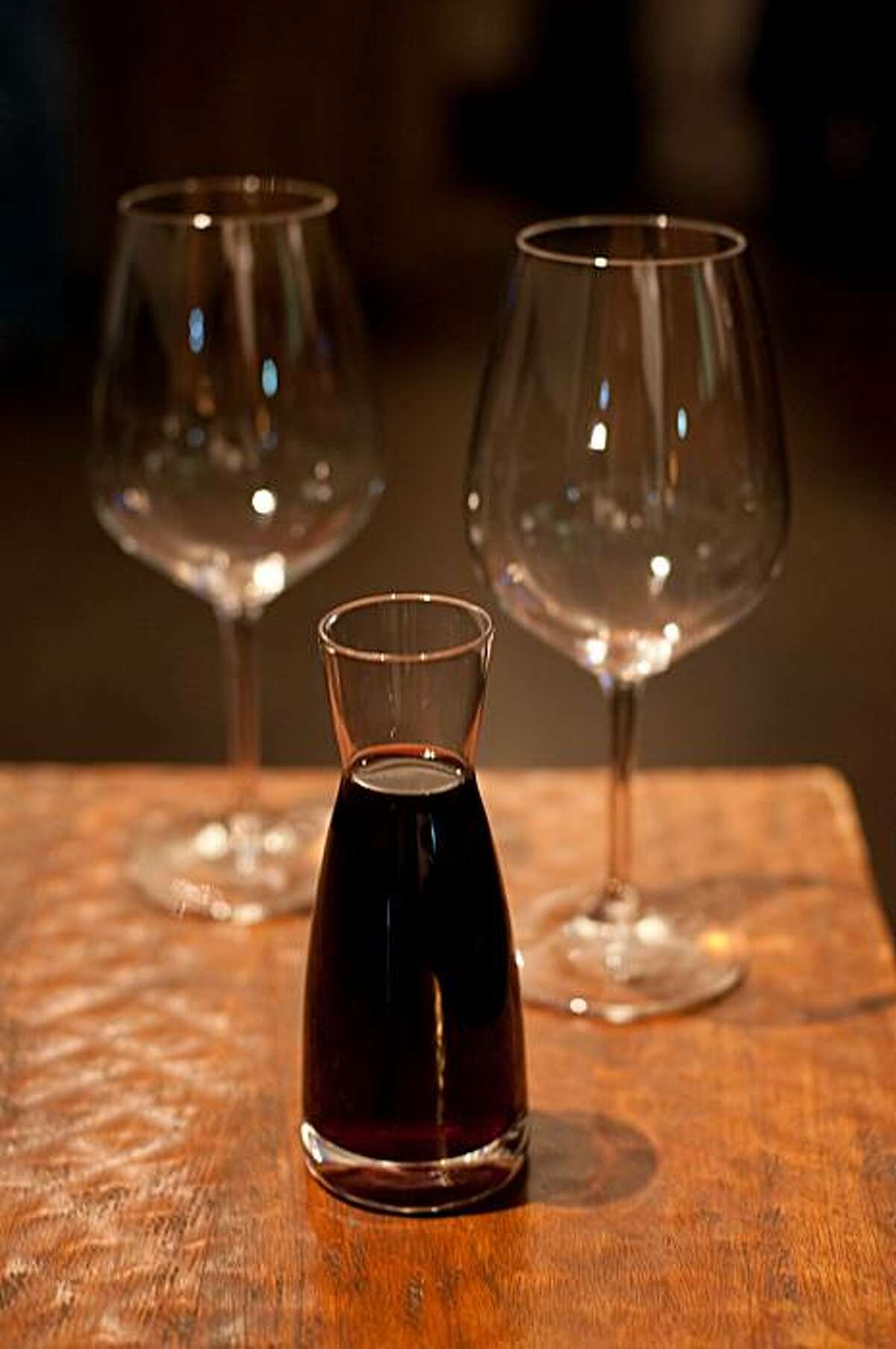 Guests of the restaurant Donato Enoteca have their choice of approximately 30 wines that can be served in this style, an 8-ounce carafe, with more than an additional 100 wines served by the bottle.