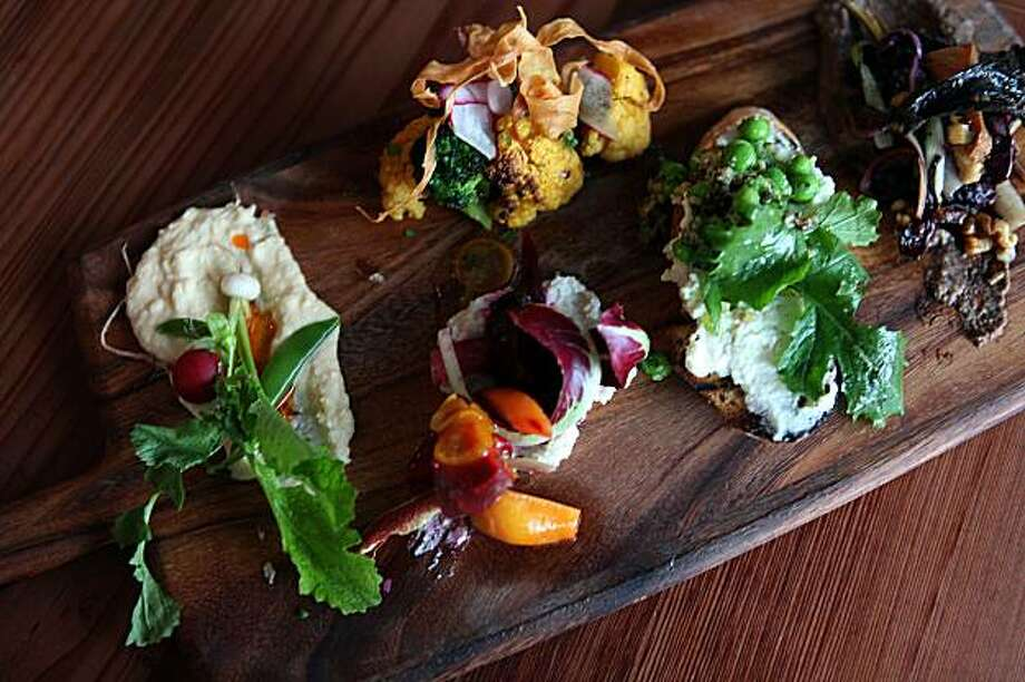 "Vegan ""charcuterie"" at Gather, a new sustainable restaurant in Berkeley, Ca., on Thursday, February 12, 2010. Photo: Liz Hafalia, The Chronicle"