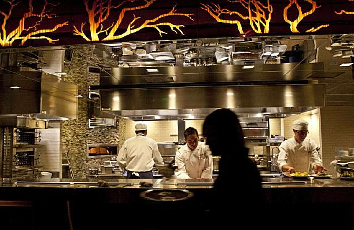 Manzanita at the Ritz-Carlton Highlands, Lake Tahoe features an open kitchen in Truckee, Calif., on Friday, Jan. 22, 2010.