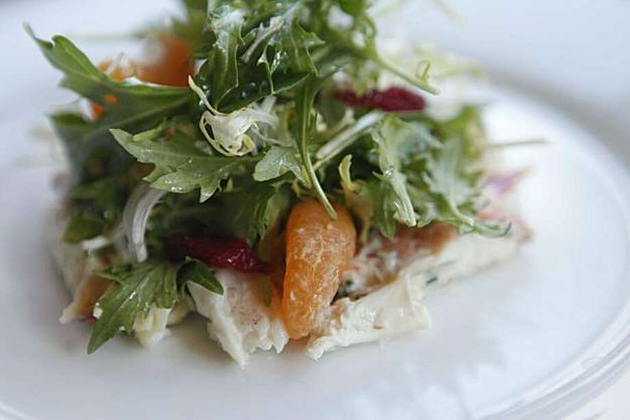 Local dungeness crab salad was photographed at Frances on Friday January 22, 2009 in San Franicisco, Calif. Photo: Mike Kepka, The Chronicle