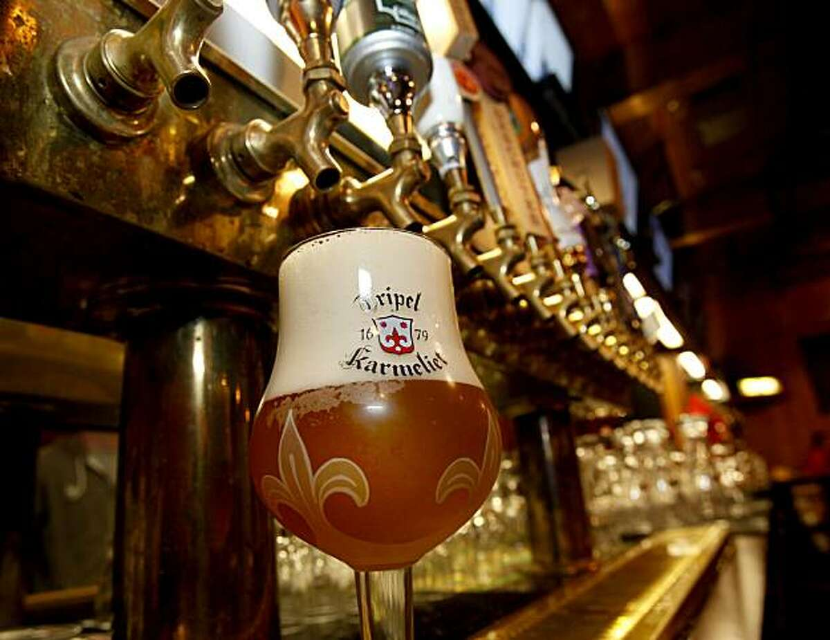 A Belgium beer, Triple Karmeliet, is a crowd favorite. Taps, in downtown Petaluma, CA., features 30 beers on tap, a warm friendly atmosphere and pub food for every taste.