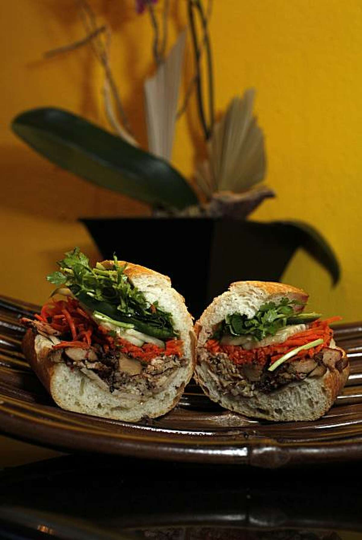 A Banh Mi sandwich, featured at the Saigon Deli Express, located at Embarcadero 4, in San Francisco,Ca. on Wednesday December 23, 2009.