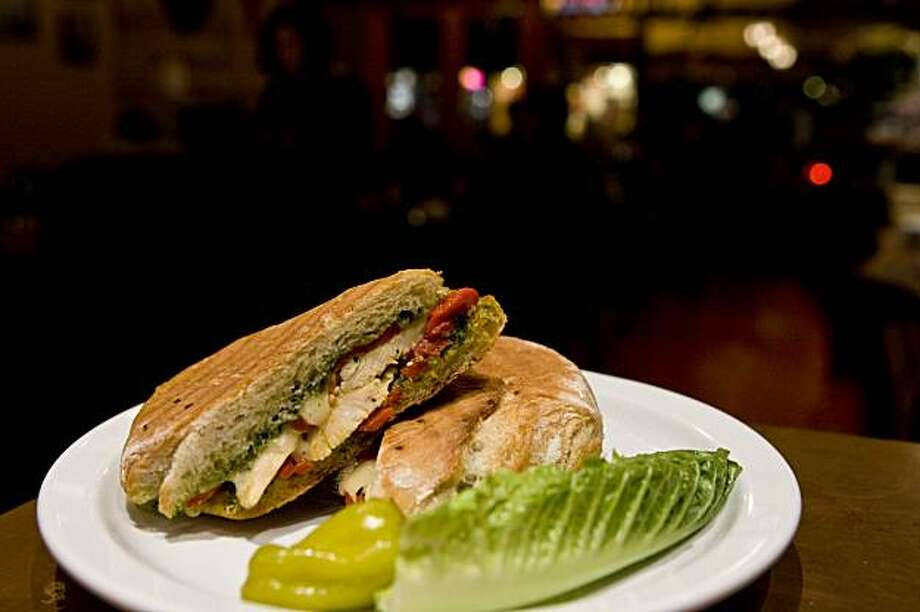 A grilled chicken panini at the Oakland location of Cafe Trieste on Piedmont Ave. in Oakland, Calif., on Monday, Dec. 14, 2009. Photo: Laura Morton, Special To The Chronicle