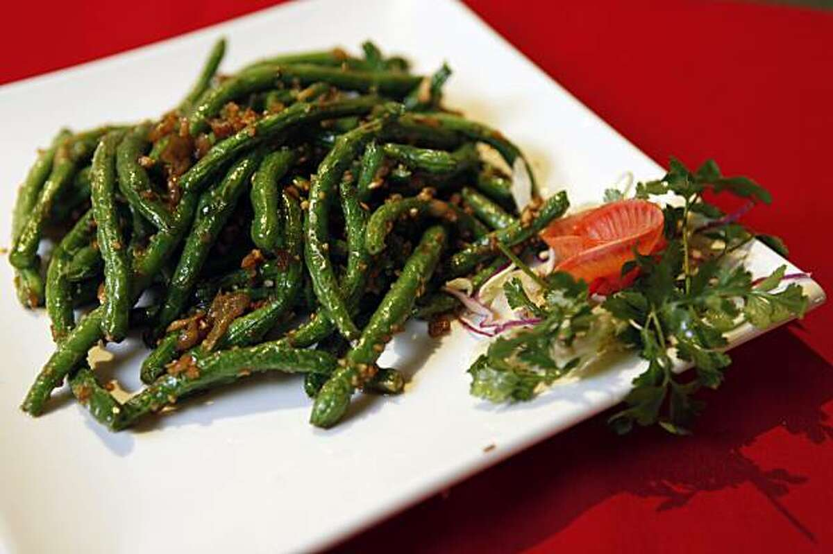 Sichuan Fortune House in Concord offers a verity of authentic Sichuan dishes including Sichuan Style Dry Cooked Green Beans.Tuesday November 24, 2009.