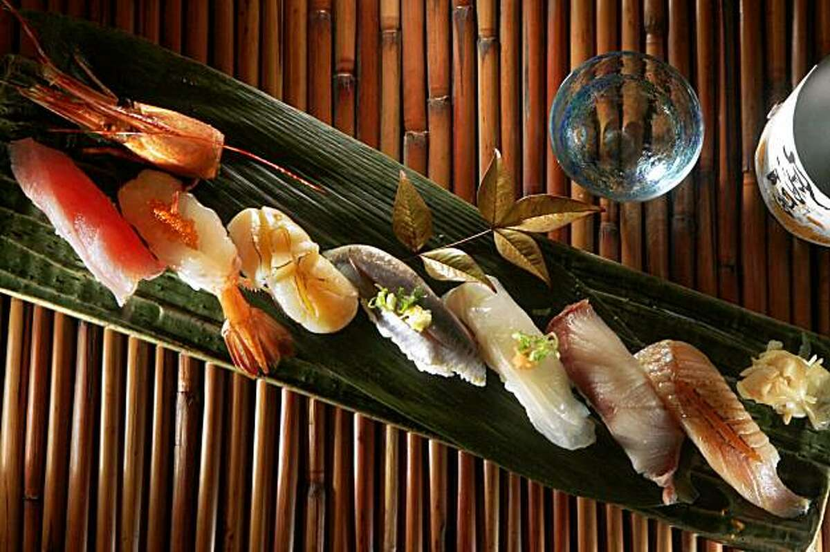 An assortment of different sushi is seen at Sakae Sushi and Grill in Brisbane, Calif. on Thursday November 12, 2009.