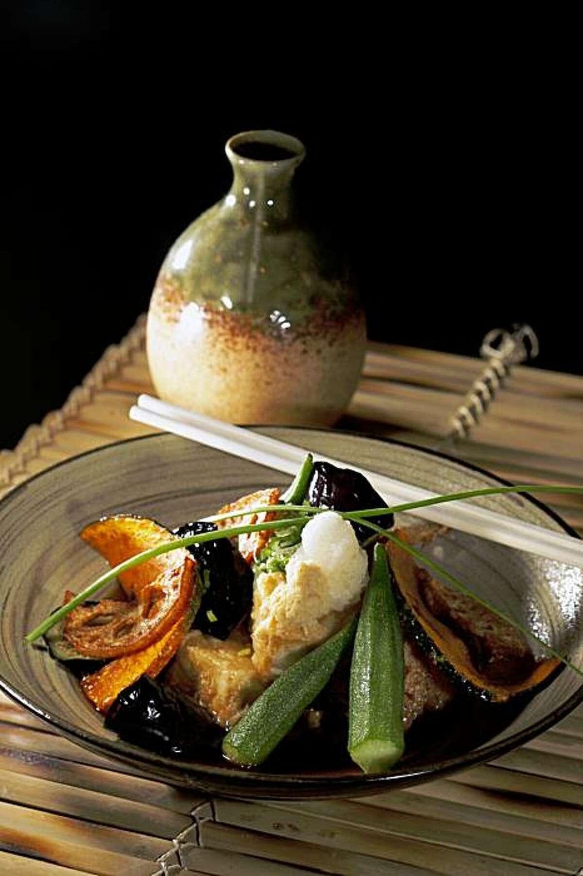 Agedashi- tofu is seen at Sakae Sushi and Grill in Brisbane, Calif. on Thursday November 12, 2009.
