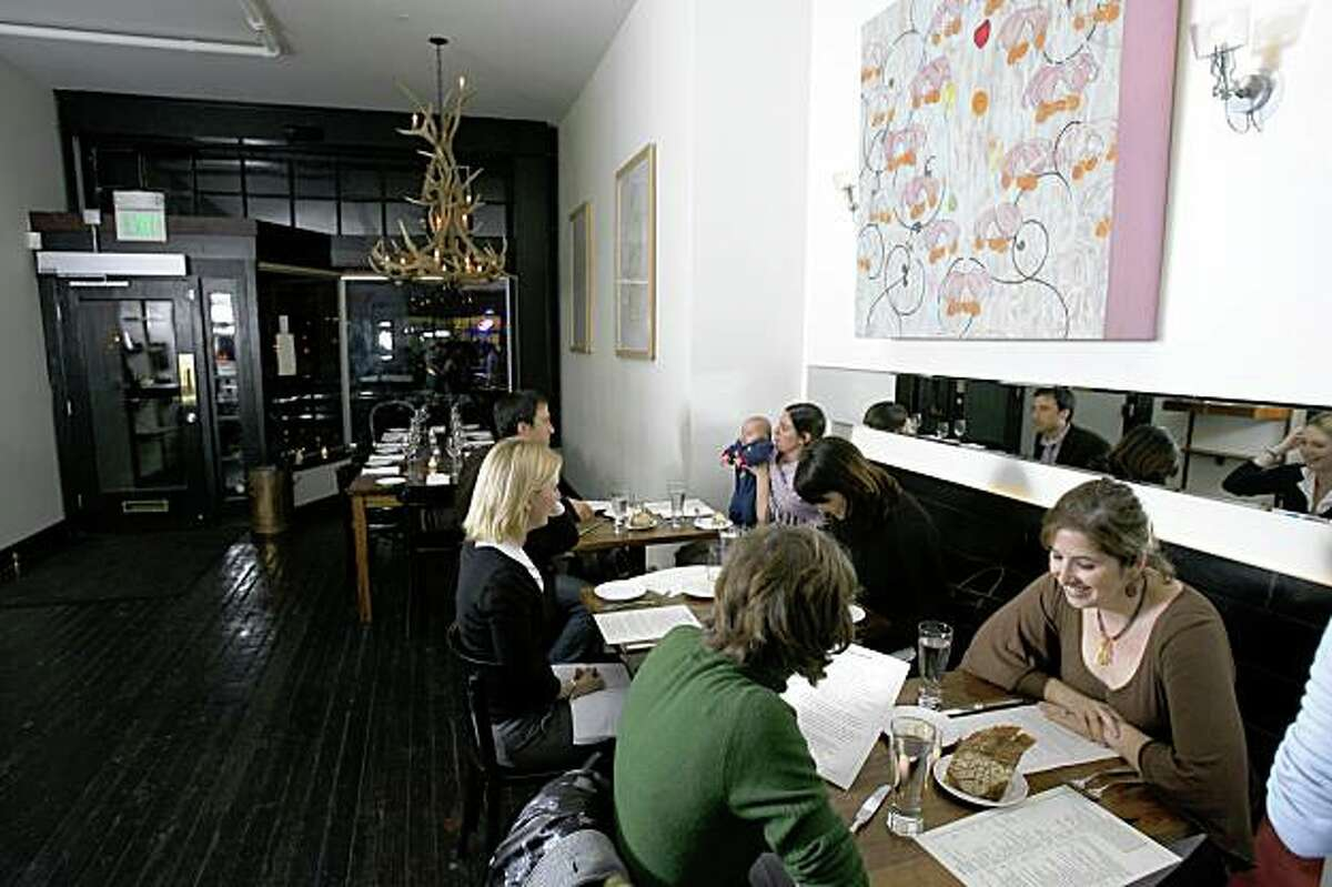 d.05bartartine_0353_db.JPG Eileen Hassi and Susie Nadler, front right, both of San Francisco, sit in the dining area at Bar Tartine. Event on 1/18/06 in San Francisco. Darryl Bush / The Chronicle