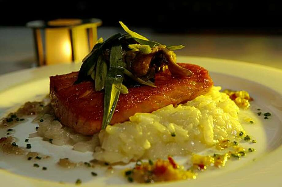 Lake Chalet's Salmon  is one of the favorites of customers at the new restaurant in the boathouse on Lake Merritt , Tuesday Oct. 13, 2009, in Oakland, Calif. Photo: Lacy Atkins, The Chronicle