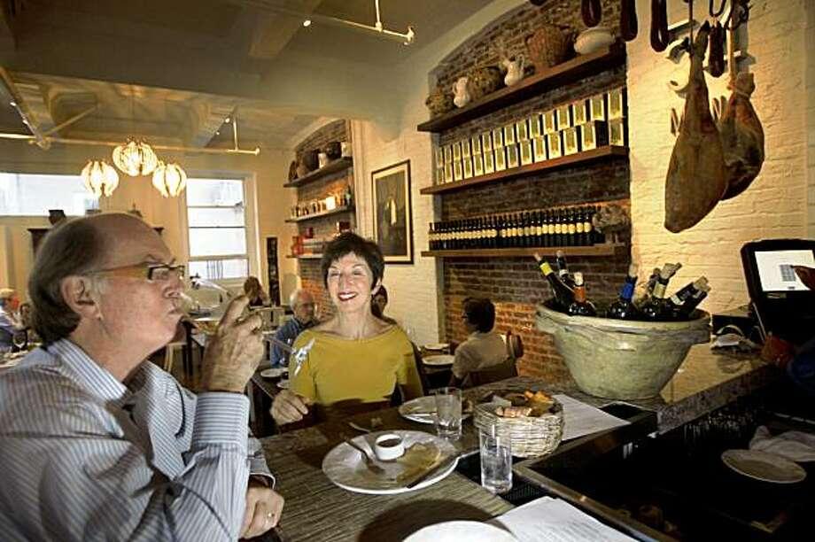 Ross and Lee Flynn at the bar area of 54 Mint, a new, popular Italian restauant on Thursday, September 10, 2009, in San Francisco, Calif. Photo: Liz Hafalia, The Chronicle