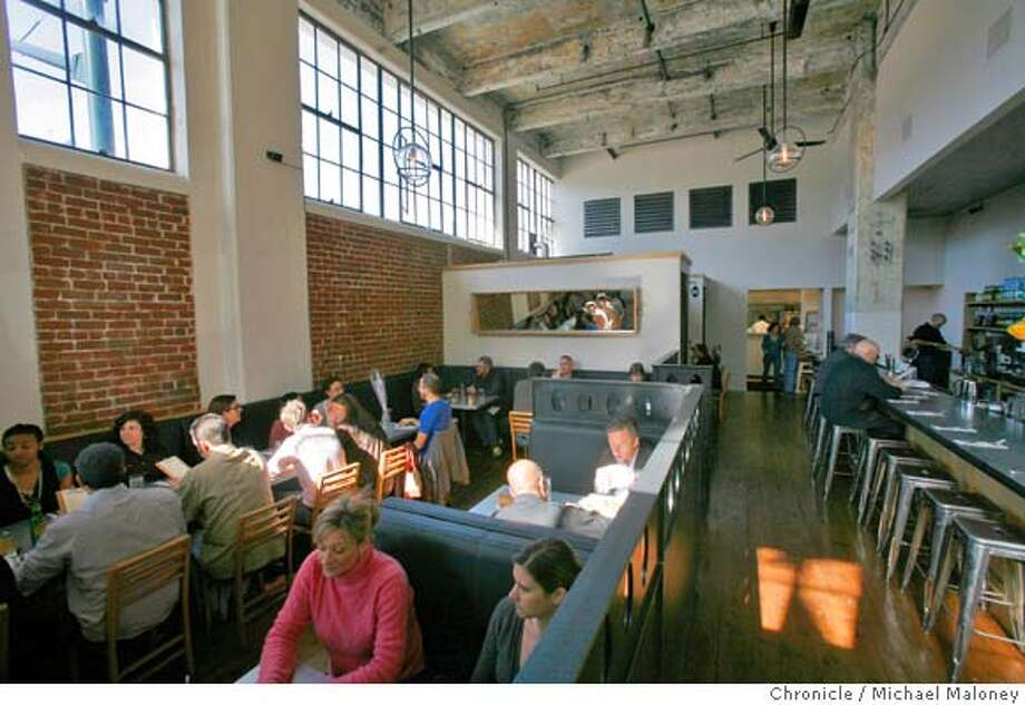 Interior view of Serpentine, a new restaurant on Third Street in San Francisco. Photo taken on February 13, 2008.  Photo by Michael Maloney / The Chronicle Photo: Michael Maloney
