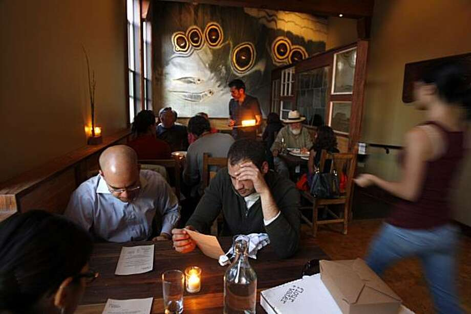 Flour & Water, a new Italian restaurant in the Mission in San Francisco, Calif., on Thursday, July 9, 2009. Photo: Liz Hafalia, The Chronicle