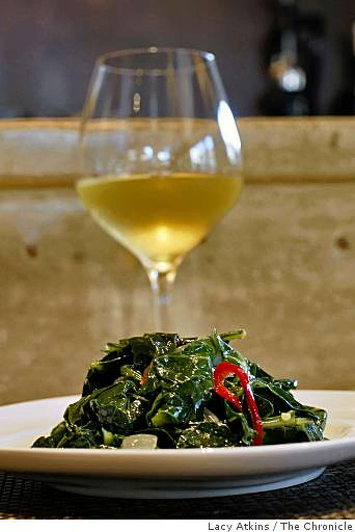 California Collards is one of the favorites of the customers at the new Pican restaurant, Wednesday June 24, 2009, in Oakland, Calif.