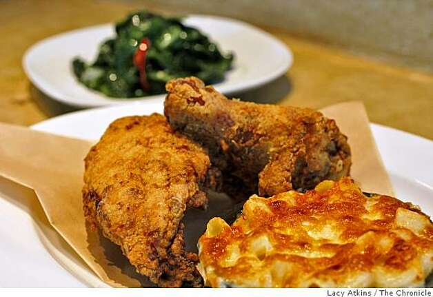 Fried Chicken and California  Collards are favorites of the customers at the new Pican restaurant, Wednesday June 24, 2009, in Oakland, Calif. Photo: Lacy Atkins, The Chronicle