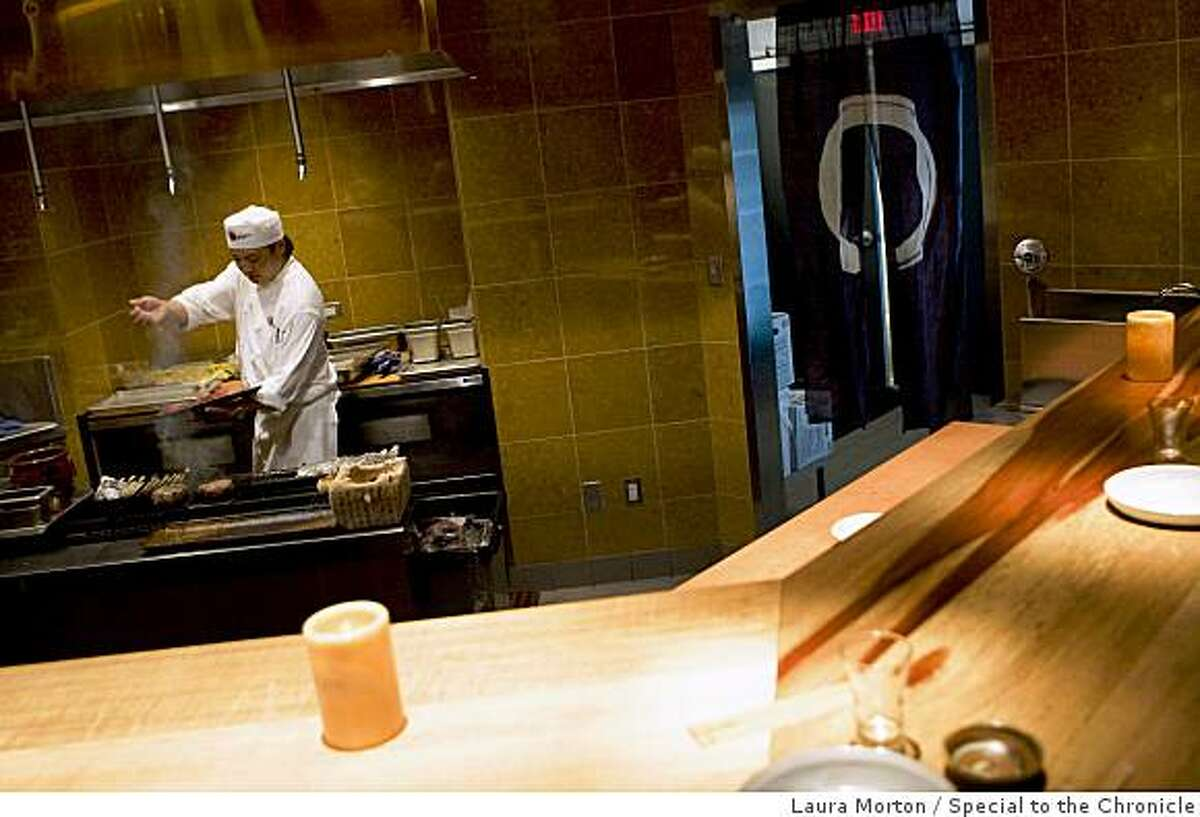 The robata grill at the new location of Ozumo in Oakland, Calif. on Tuesday, February 17, 2009.
