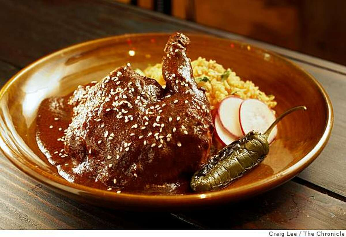 Mole Chicken at Tropisueno, a Mexican restaurant that is a casual taqueria during the day and morhs into a nice, table service restaurant at night in San Francisco, Calif., on January 20, 2009.