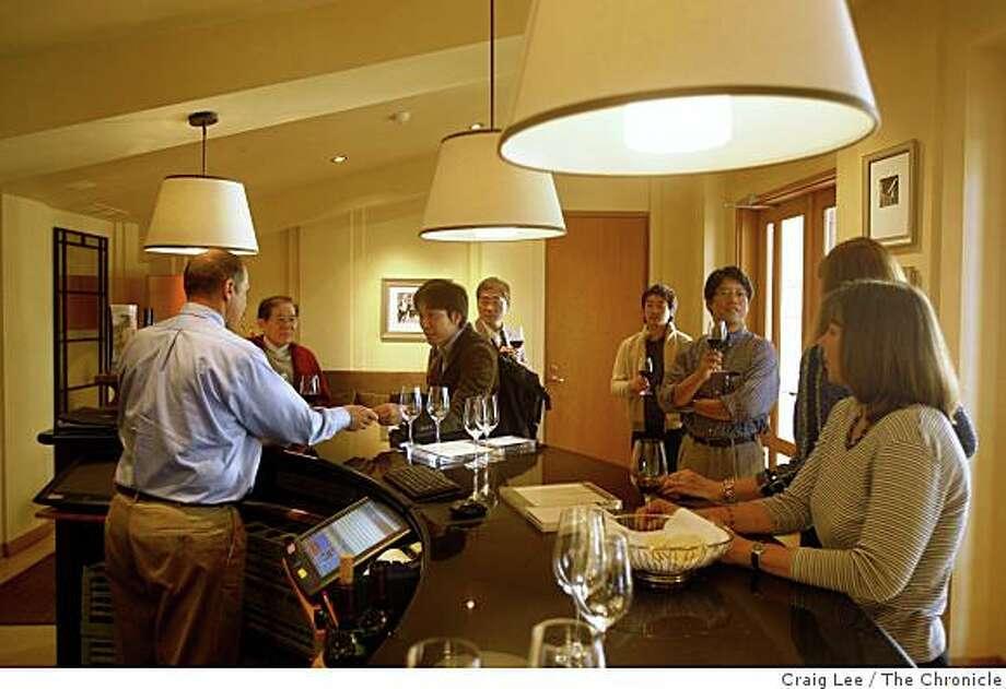 The taste room at Opus One in Oakville, Calif., on November 12, 2008. Photo: Craig Lee, The Chronicle