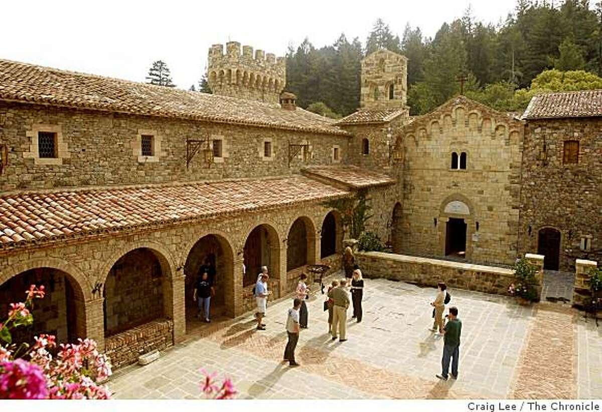 Castello di Amorosa winery in Calistoga, Calif., on October 17, 2008.