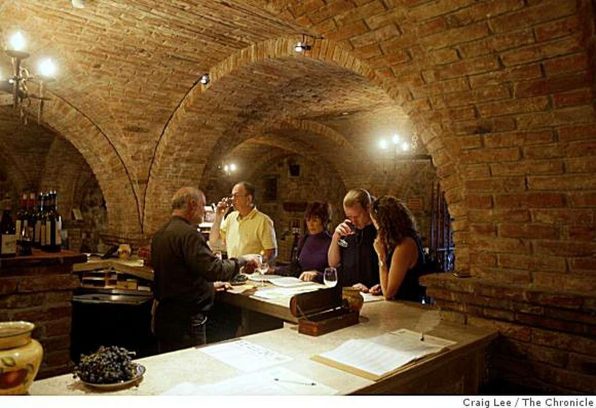 Castello di Amorosa winery taste room in Calistoga, Calif., on October 17, 2008.