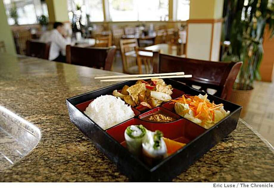 Bento Box with tofu eggplant curry at Kim Huong Vietnamese Restaurant in Oakland   photographed on Wednesday, October 22, 2008. Photo: Eric Luse, The Chronicle