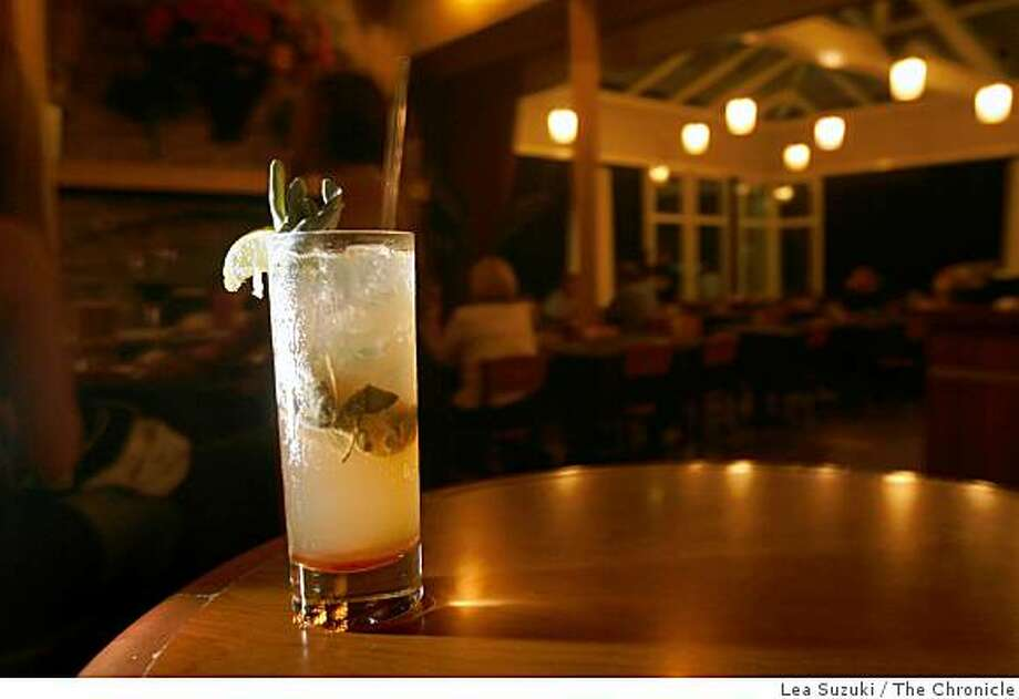 Sage Press Cocktail - Junipero Gin, Sage Leaves, Raw Sugar, Lime and Equal Parts Ginger and Soda at Park Chalet near San Francisco's Ocean Beach on Thursday August 28, 2008 in San Francisco, Calif. Photo: Lea Suzuki, The Chronicle