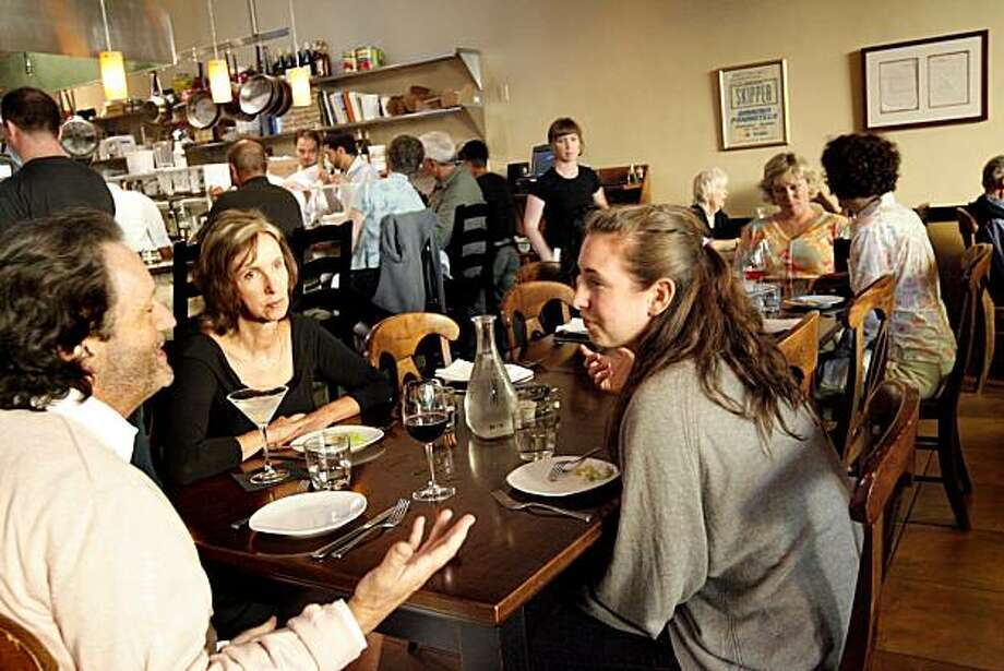 In the dining room at the communal table at Corso, a restaurant at 1788 Shattuck Ave. in Berkeley, Calif. on Thursday, August 20, 2008. Photo: Katy Raddatz, The Chronicle