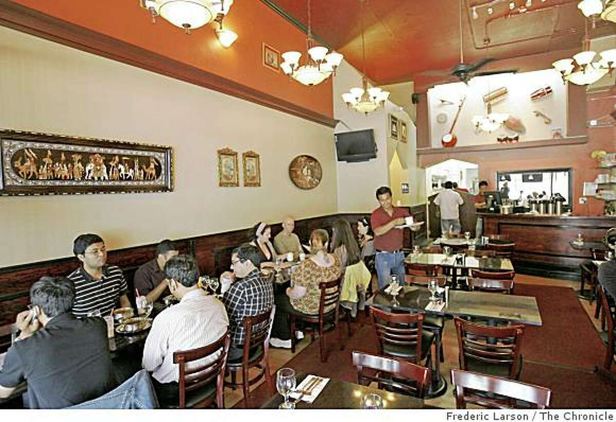 Interior photograph of Udupi Palace Restaurant located on Valencia near 21st Street in San Francisco, Calif., on August 21, 2008.