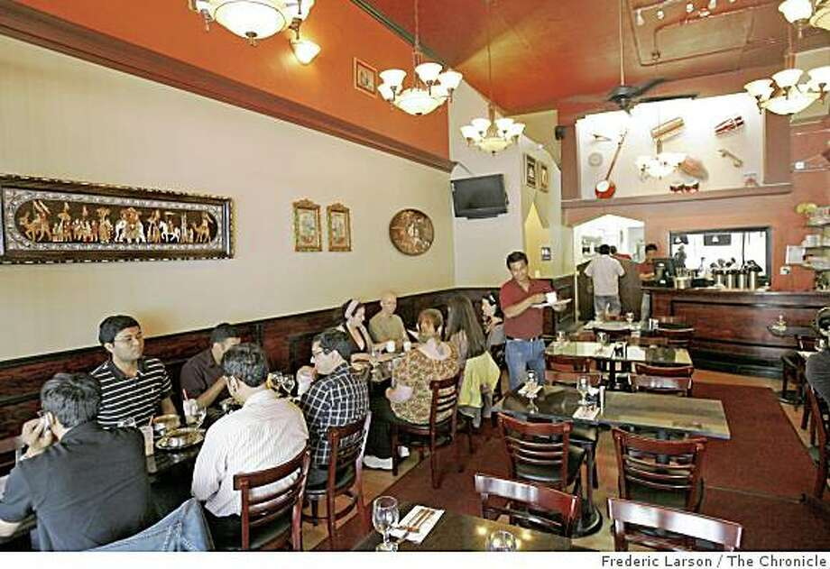 Interior photograph of Udupi Palace Restaurant located on Valencia near 21st Street in San Francisco, Calif., on August 21, 2008. Photo: Frederic Larson, The Chronicle