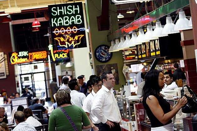 Pamir Afghan Cuisine, one of the many ethnic restaurants in the Emery Bay Public Market, in Emeryville, Calif. on Monday,  Aug. 11, 2008. Photo: Katy Raddatz, The Chronicle