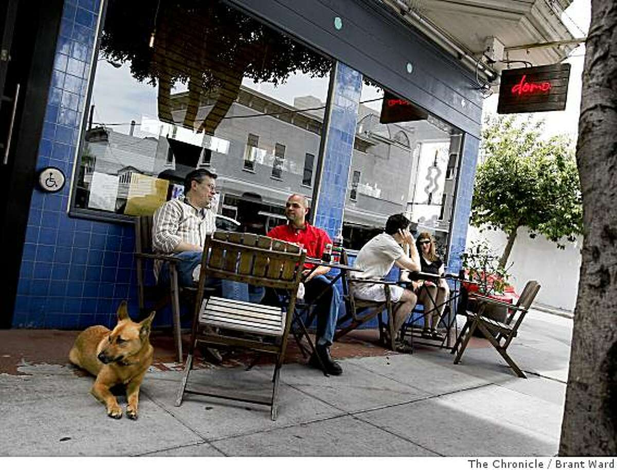 At Domo on Laguna Street, the dining room is small so some customers prefer to eat outside.