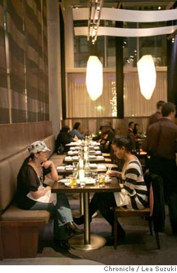 Dining area at Yoshi's which is a new Japanese restaurant at 1330 Fillmore Street in San Francisco. Lea Suzuki/ The Chronicle Photo: Lea Suzuki
