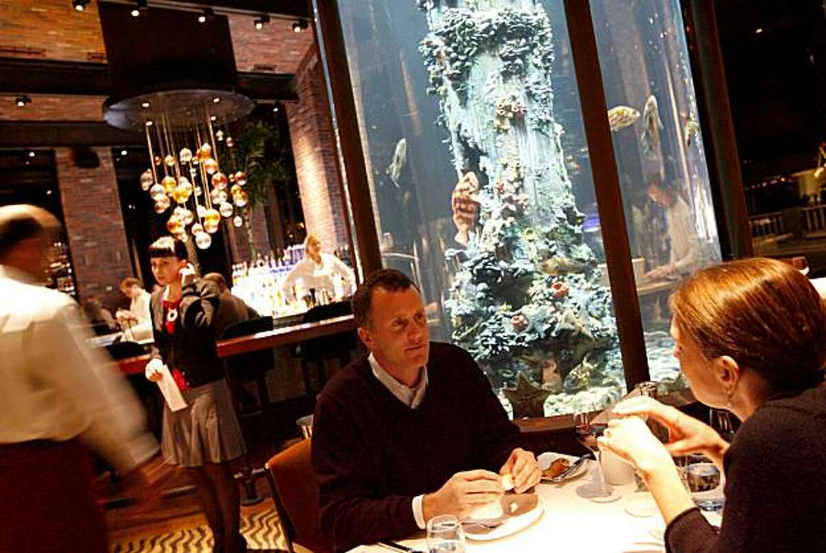 WHATS30 Gigantic aquariums are part of the decor of the seafood-themed new restaurant Waterbar, just opened by Pat Kuleto. These pictures were made on Tuesday, Jan. 22, 2008, in San Francisco, CA. KATY RADDATZ/The Chronicle